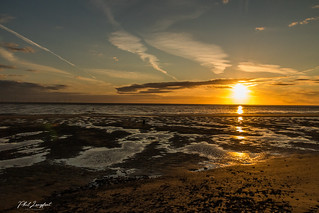 Sunset over Liverpool Bay July 2020
