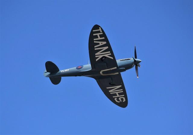 NHS Spitfire G-PRXI (13) @ LCY 10-07-20