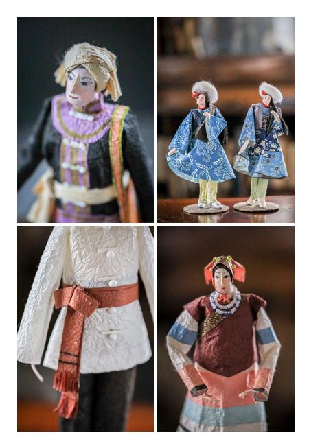 中国の少数民族 | 紙人形作家、故「荻原敏子」氏の作品