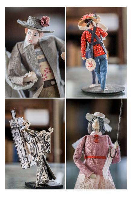 紙人形作家、故「荻原敏子」氏の作品群 洋風・和風