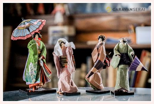 提灯を持つ女性の横顔(着物姿) | 紙人形作家、故「荻原敏子」氏の作品