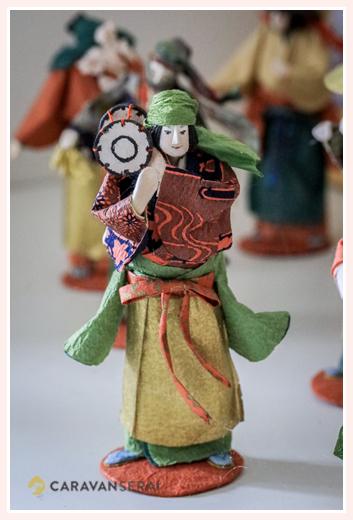 舞踊楽団・太鼓 | 紙人形作家、故「荻原敏子」氏の作品