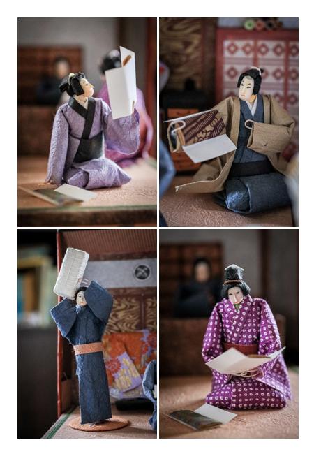 呉服屋で働く人達 | 紙人形作家、故「荻原敏子」氏の作品