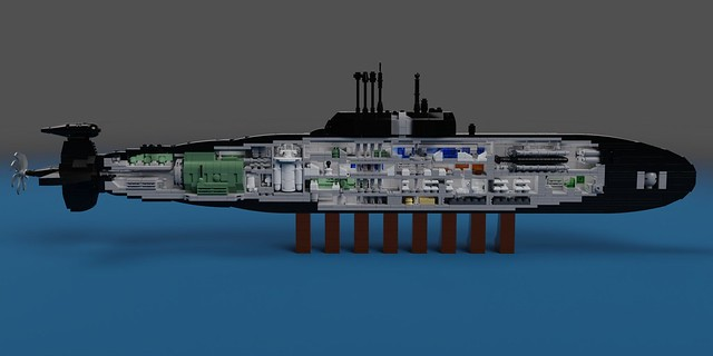 Sierra I Class SSN (Project 945 Barrakuda) Cutaway
