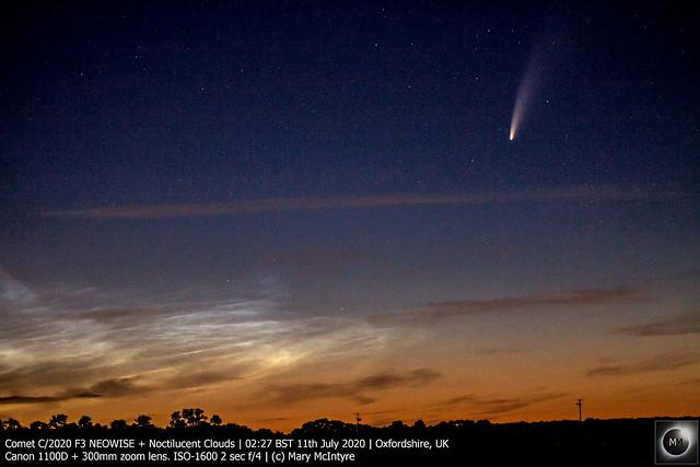 Comet C/2020 F3 NEOWISE + Noctilucent Clouds 11/07/20