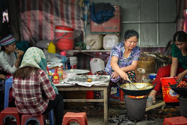 A street food stall - Ha Giang, Vietnam