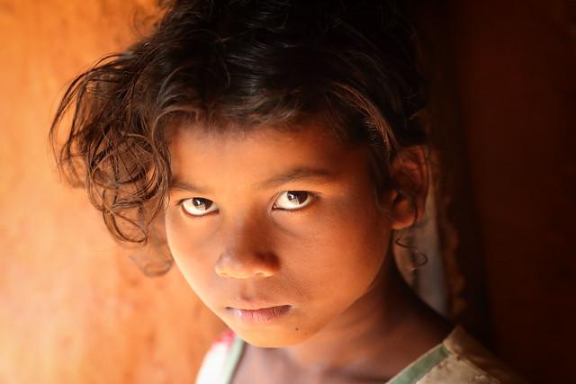 India, tribal girl in Odisha