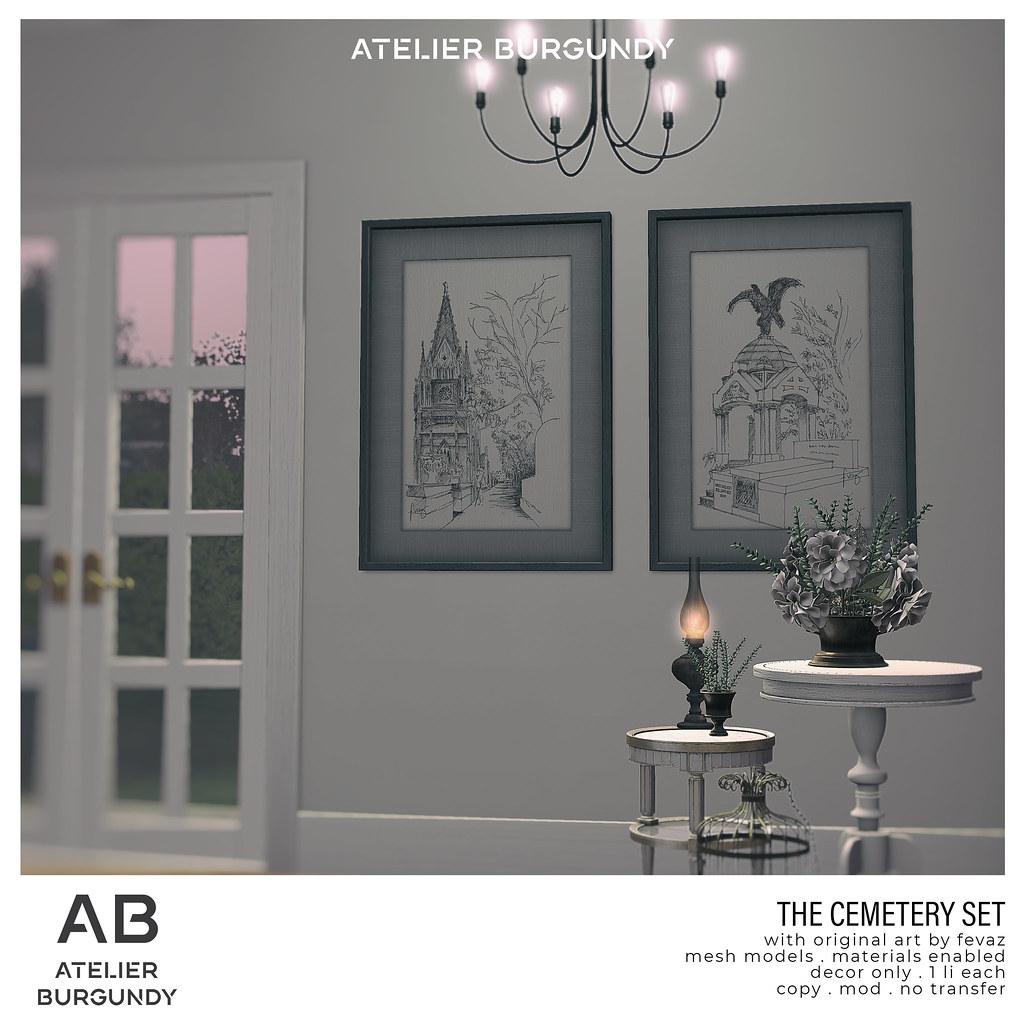 Atelier Burgundy . Cemetery Set