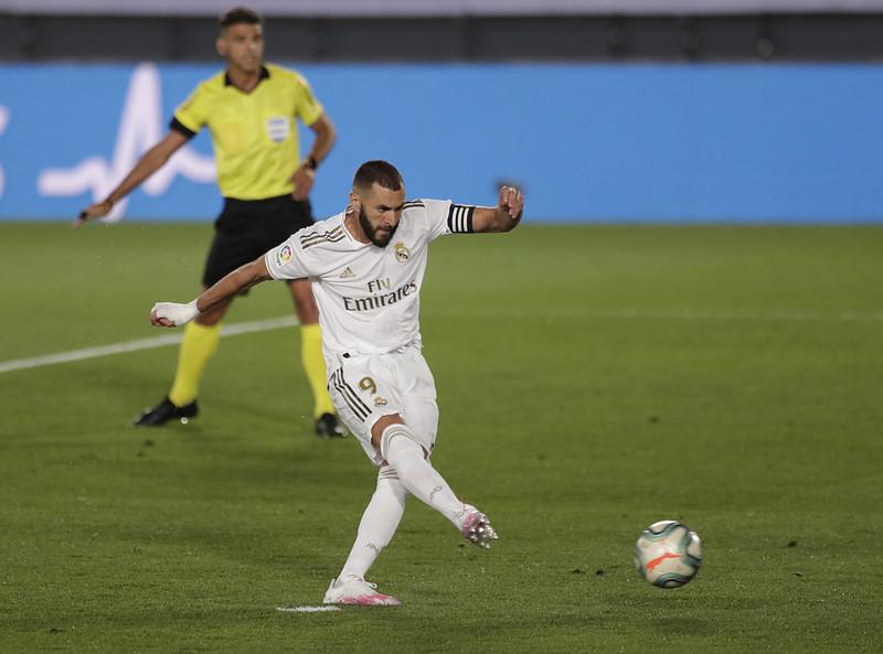 Karim Benzema主罰12碼。(達志影像)