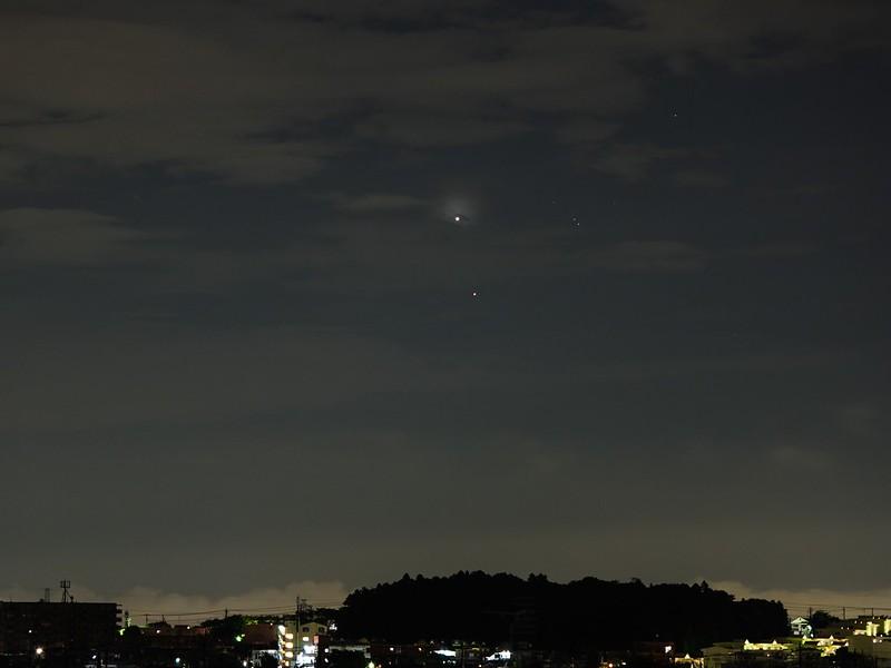 金星とアルデバラン (2020/7/11 02:40)