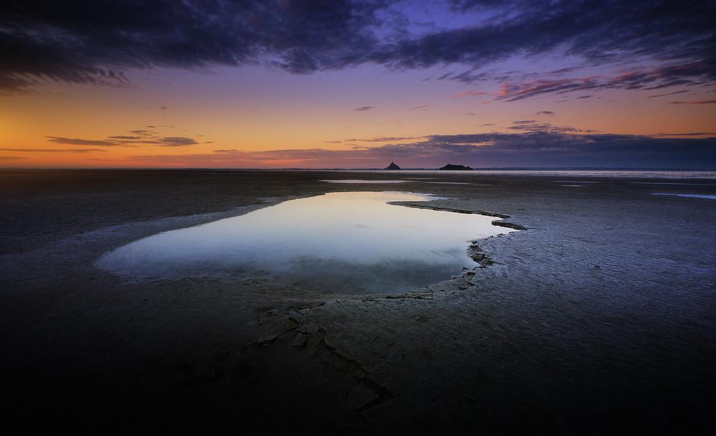 Sunrise dans la baie du Mont-Saint-Michel