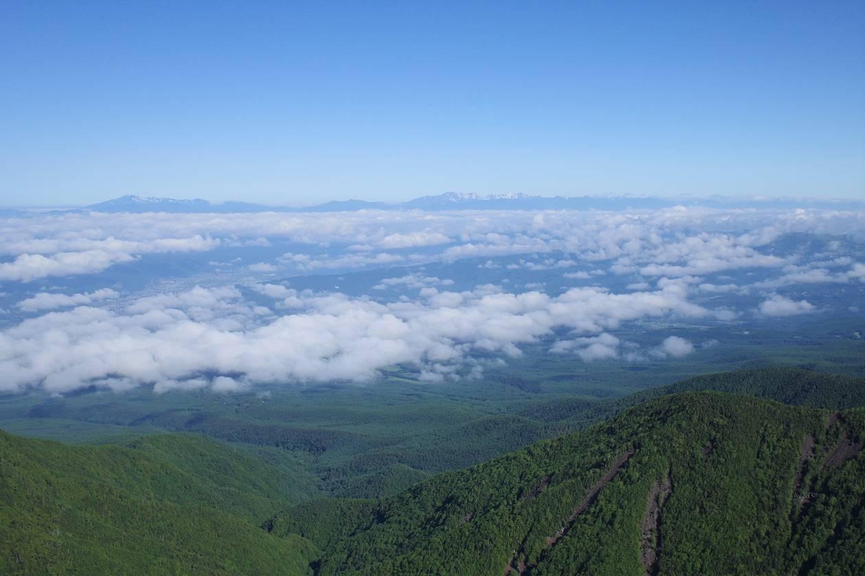 八ヶ岳・ギボシから眺める北アルプス