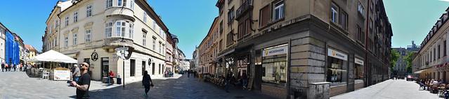 Many Streets Of Bratislava, Slovakia.