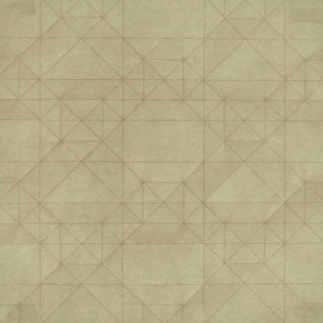 Pre-creased sheet of paper for Triangles Tessellation (16×16)