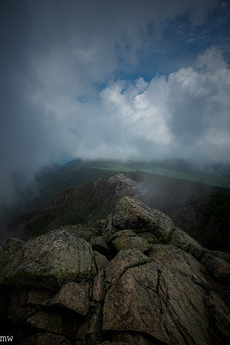 franconia ridge mt liberty new hampshire white mountains 4000 footer clouds landscape hiking