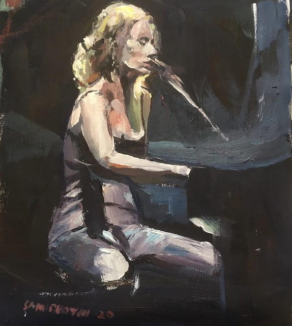 Tori Amos acrylic 12 by 10 Inches