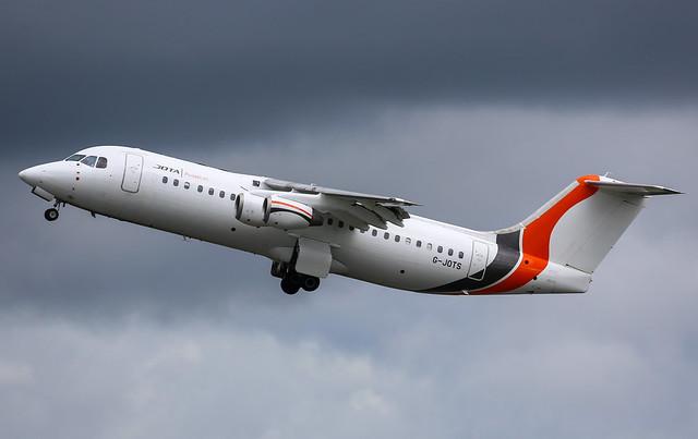 Jota Aviation Avro RJ100 G-JOTS