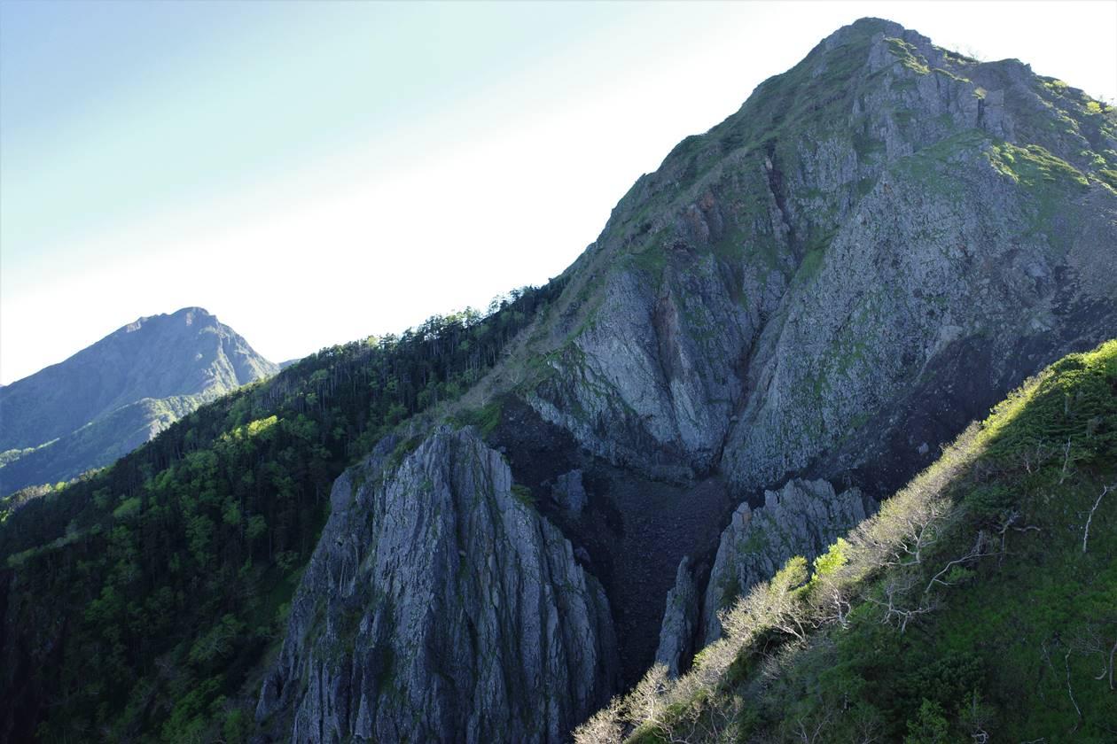 権現岳・ギボシの岩肌