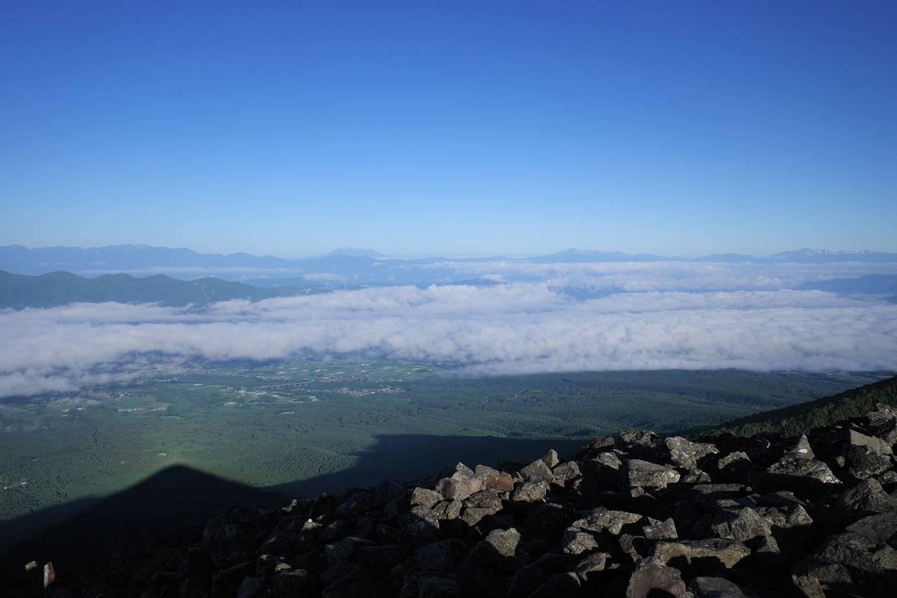 編笠山から眺める雲海