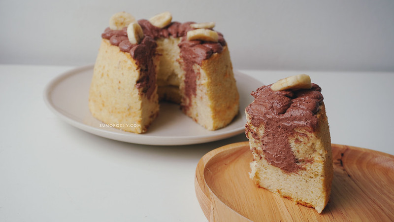 Chocolate Banana Chiffon Cake Recipe