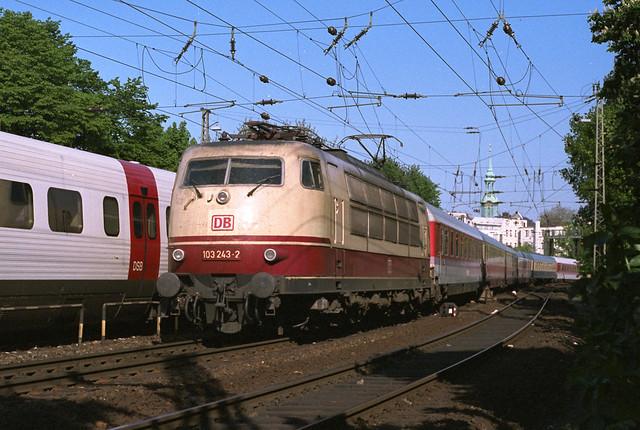 July 1994 train spotting in Hamburg