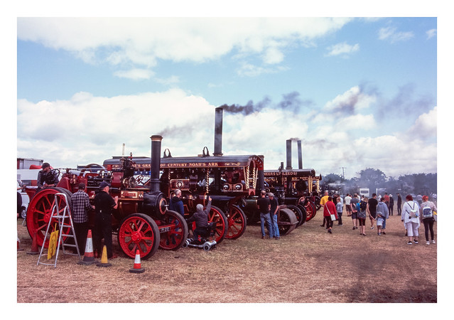 Steam rally scenes