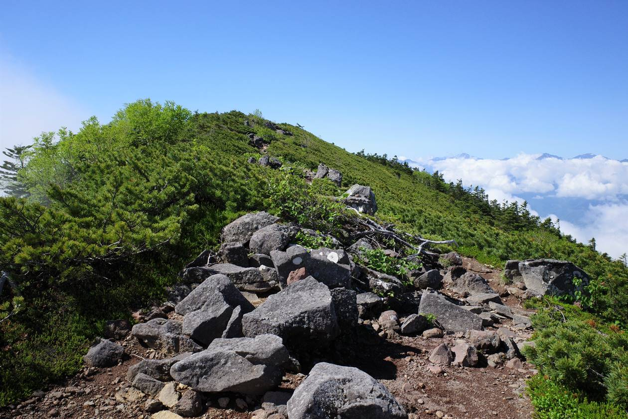 権現岳~三ッ頭の稜線