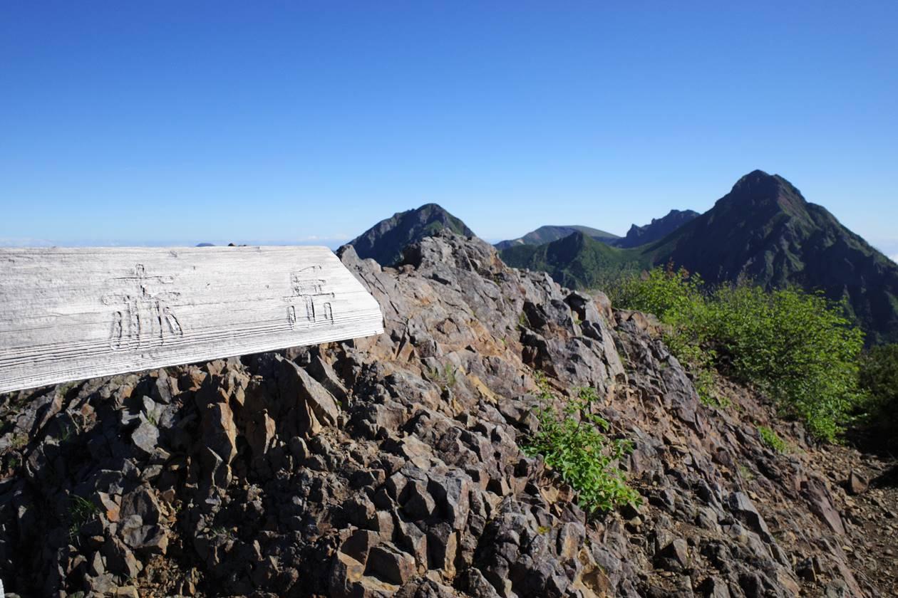 権現岳から赤岳へ
