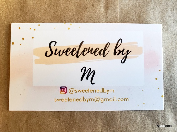 Sweetened by M business card
