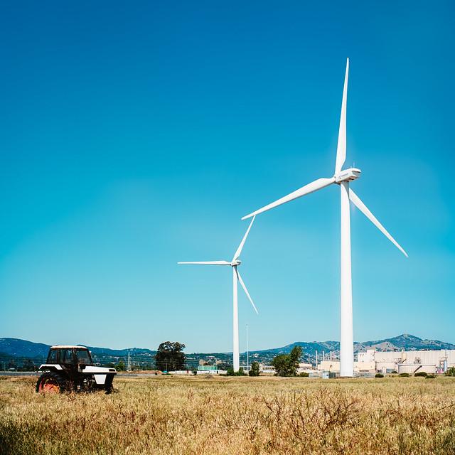 Budweiser Plant Windmills