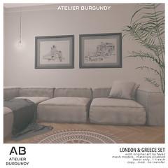 Atelier Burgundy . London and Greece Set