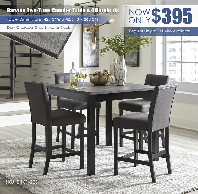 Garvine Counter Height Table & 4 Barstools_D161-223