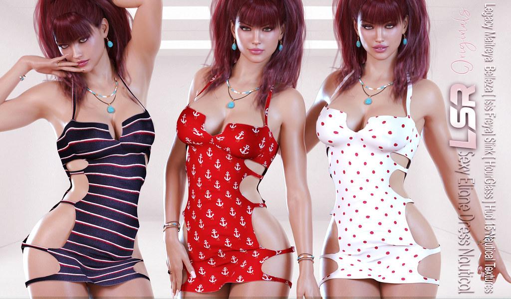 Sexy Eliane Dress Nautical