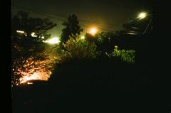 Neighborhood Fourth of July, plus full moon rise.
