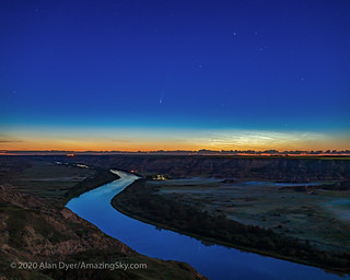 Comet NEOWISE over Red Deer River | by Amazing Sky Photography