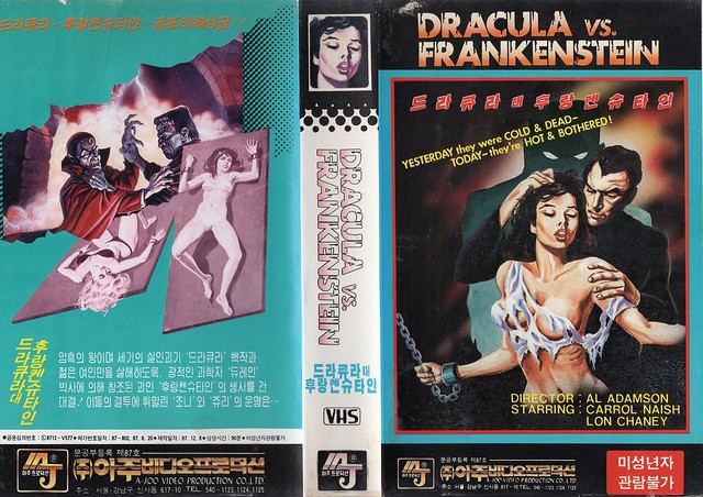 Seoul Korea vintage VHS cover art for cult drive-in classic