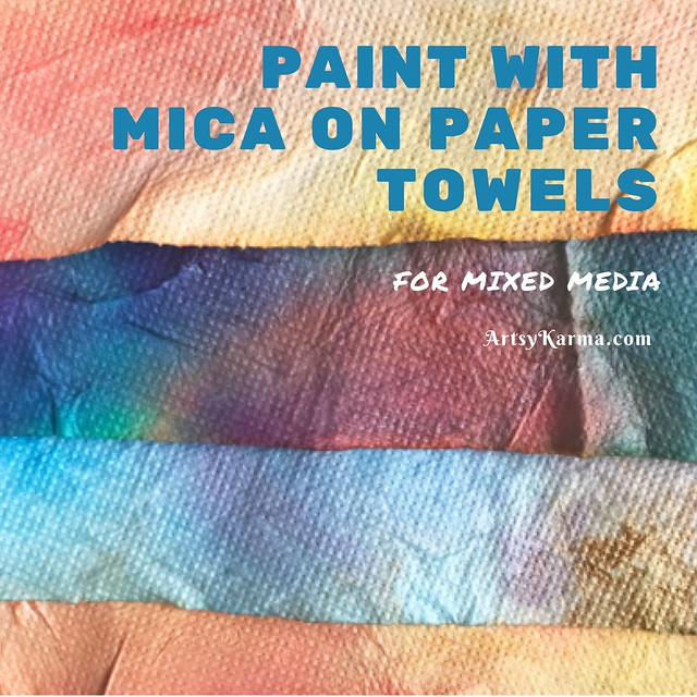Background technique using mica powder painting