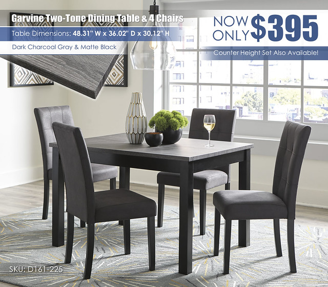 Garvine Dining Table & 4 Chairs_D161-225