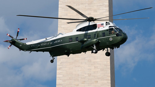 Marine One departs on the way to Walter Reed | by J Sonder