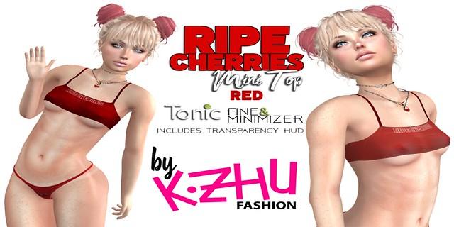 RIPE CHERRIES kzhu MINI TOP RED Poster V2