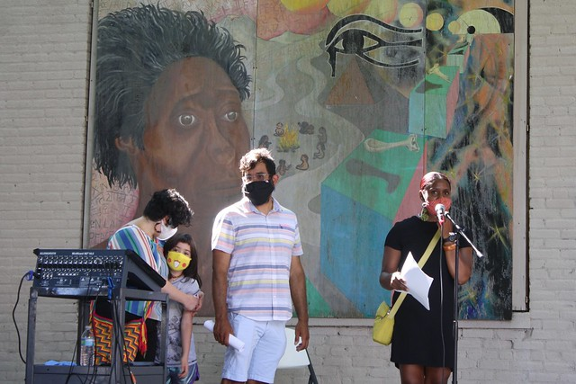 Reading Frederick Douglass Together, July 11, 2020, Edlgeston Square Peace Garden