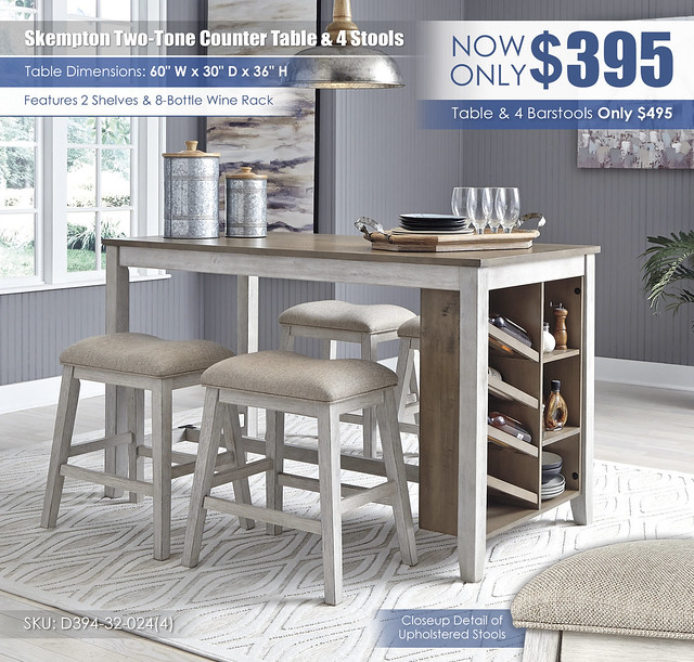 Skempton Counter Table & 4 Stools_D394-32-024(4)