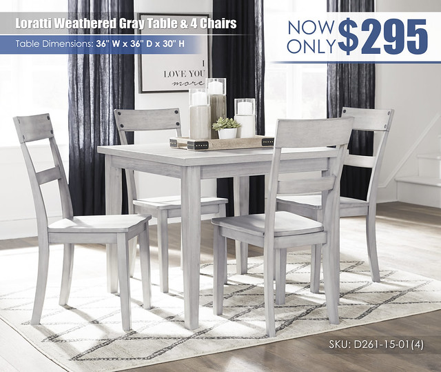 Loratti Weathered Gray Table & 4 Chairs_D261-15-01(4)