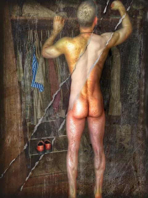 Male backside nude