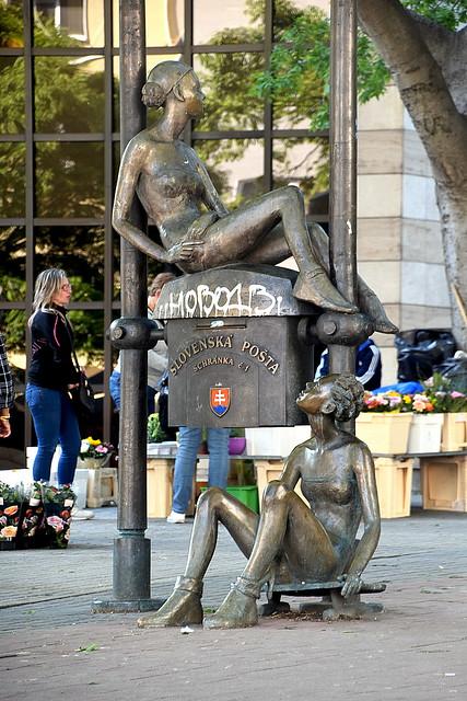 Skating Girls Statues, Bratislava, Slovakia