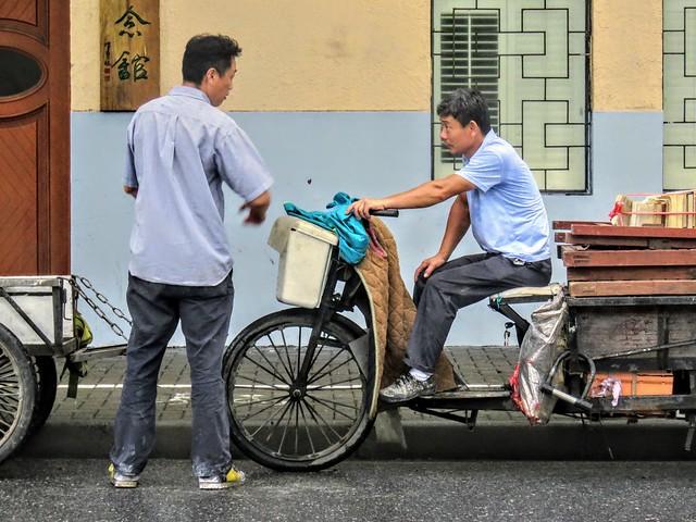 Street chatting