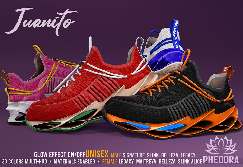 "Phedora for FaMESHed ~ ""Juanito"" Sneakers ♥"