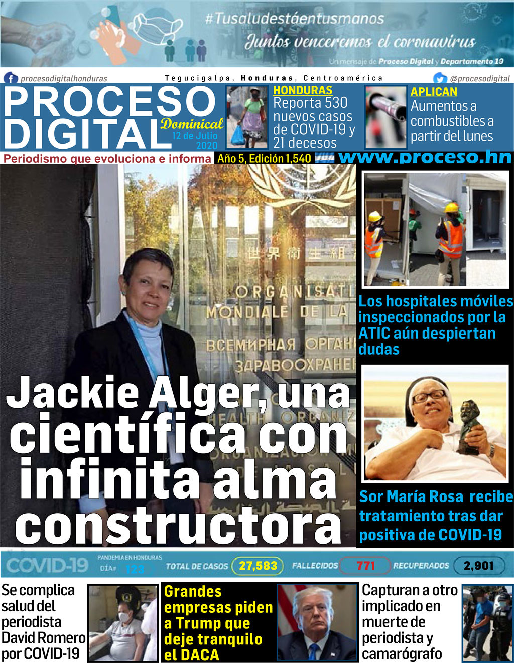 Portada Domingo 12 de Julio 2020