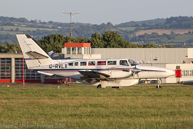 G-RVLX - 1991 Reims built Cessna F406 Caravan II, arriving on Runway 27 at East Midlands