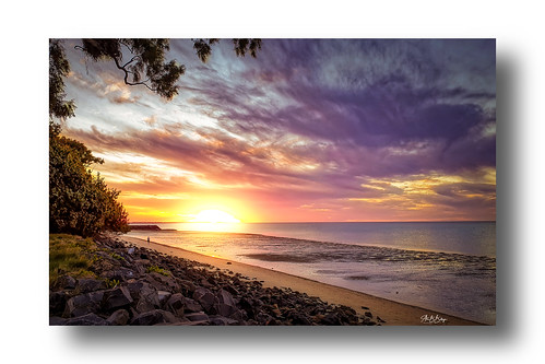 nature weather sunset orange australia beach sand walking evening queensland herveybay seaside sun colors